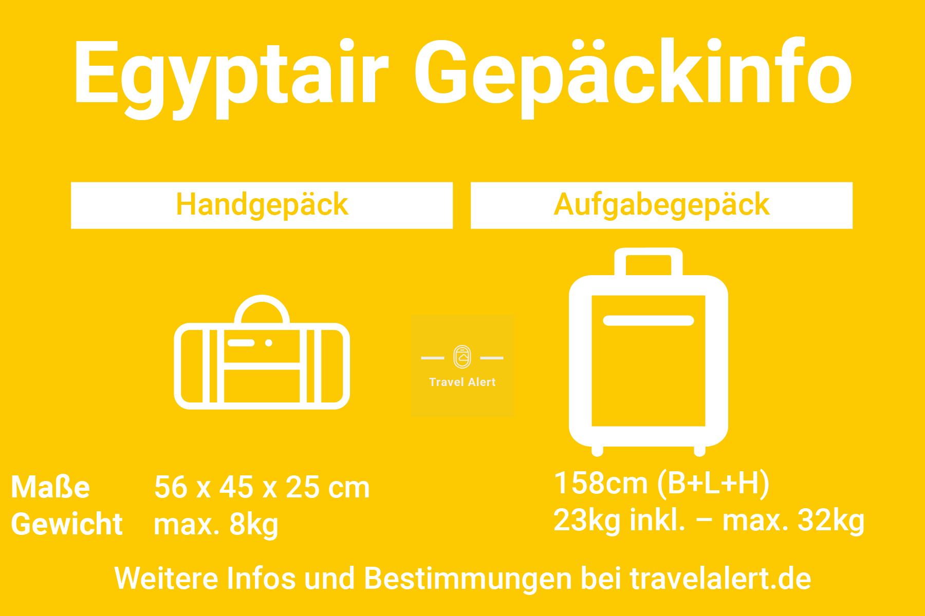 Egyptair Gepäckbestimmungen